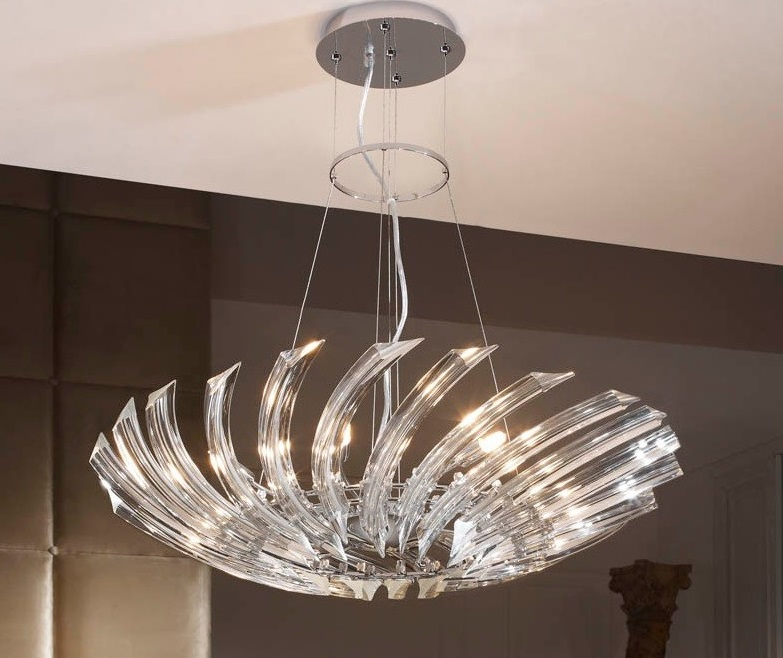 Mi casa mi hogar l mparas de cristal modernas de techo for Fotos de lamparas de techo