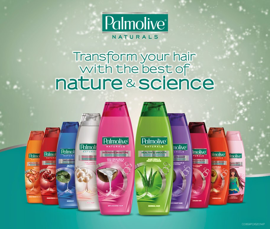 Woman In Digital Palmolive Naturals Shampoo And Conditioner