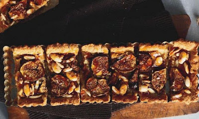 Fig and almond crostata