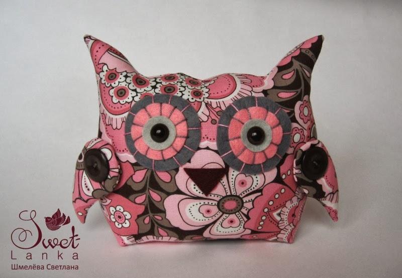 сова темно-розовая