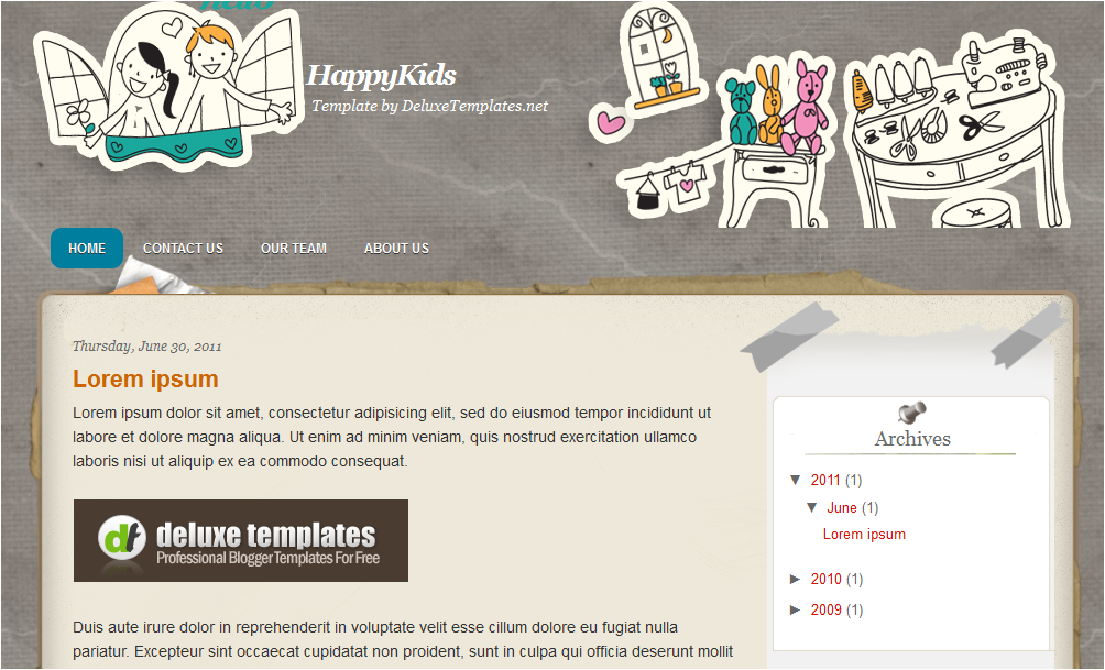 Family Kids Theme  Blogger Template