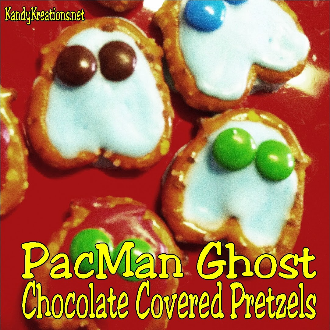 Pac Man Party Pretzels