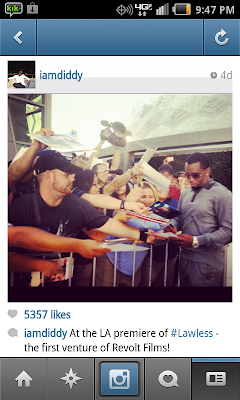 iamdiddy instagram revolt films lawless red carpet in LA