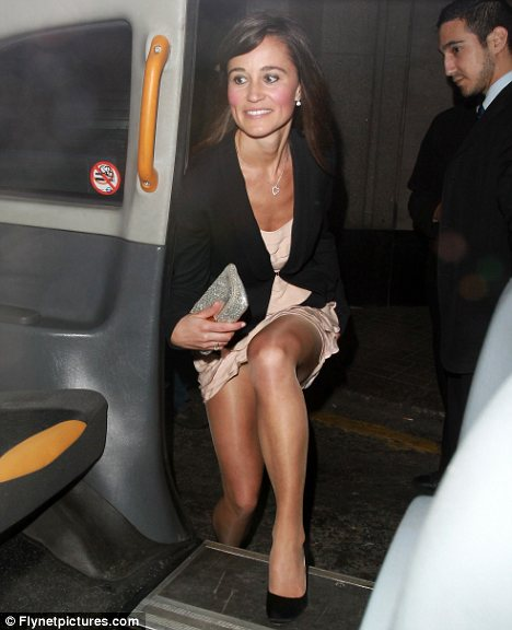pippa middleton thigh. Keeping composed: While Pippa