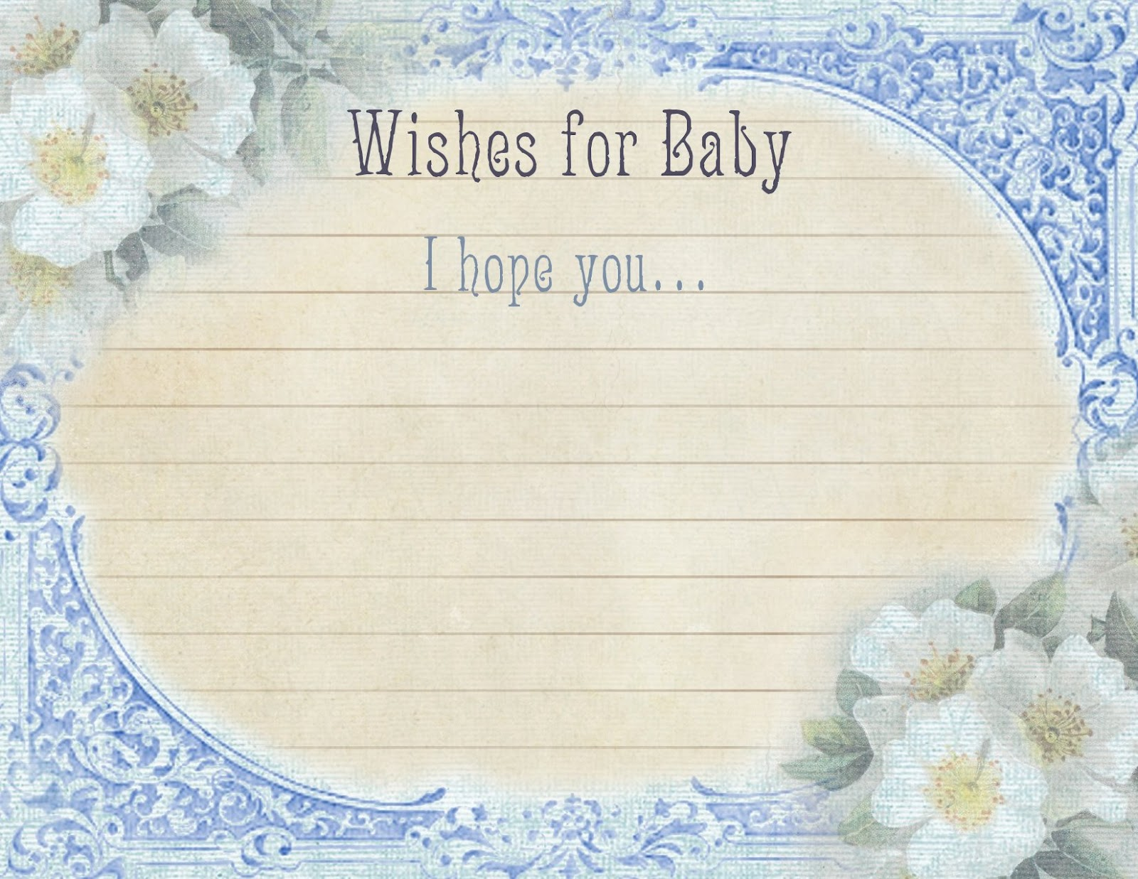vintage baby shower wishes for baby