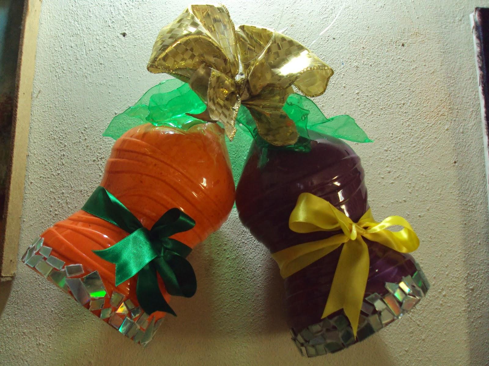 Sembrando mariposas como hacer unas campanas navide as - Como se hacen adornos navidenos ...