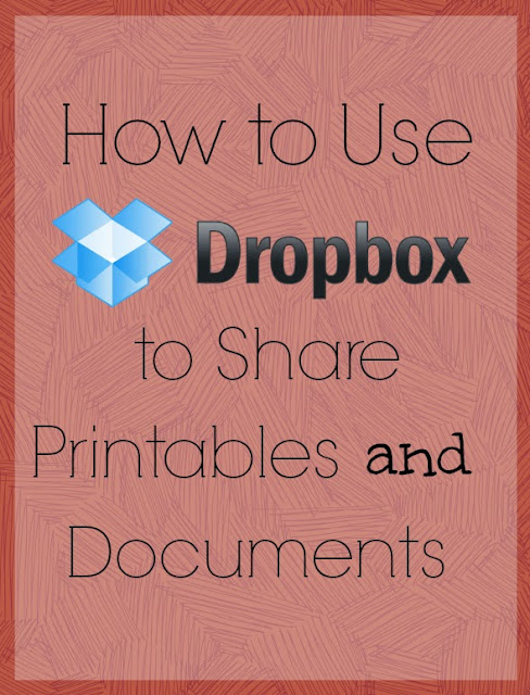 Step-by-step instructions showing how to use Dropbox to share files/printables on your blog. With screenshots of each step!
