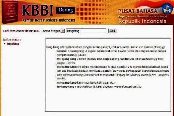 Kata Baku Kamus Bahasa Indonesia