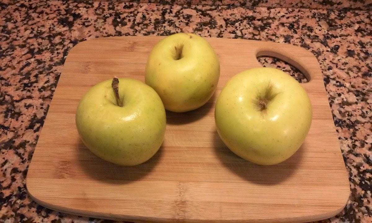 seleccionamos tres manzanas