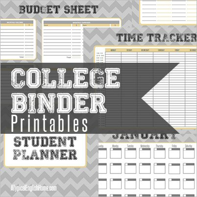photograph about College Binder Organization Printables known as A Traditional English Household: Faculty Binder Printables: Finances