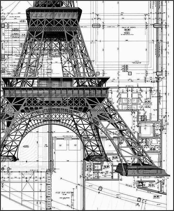 Torre Eiffel Francia dibujo tcnico estructural  Seguridad
