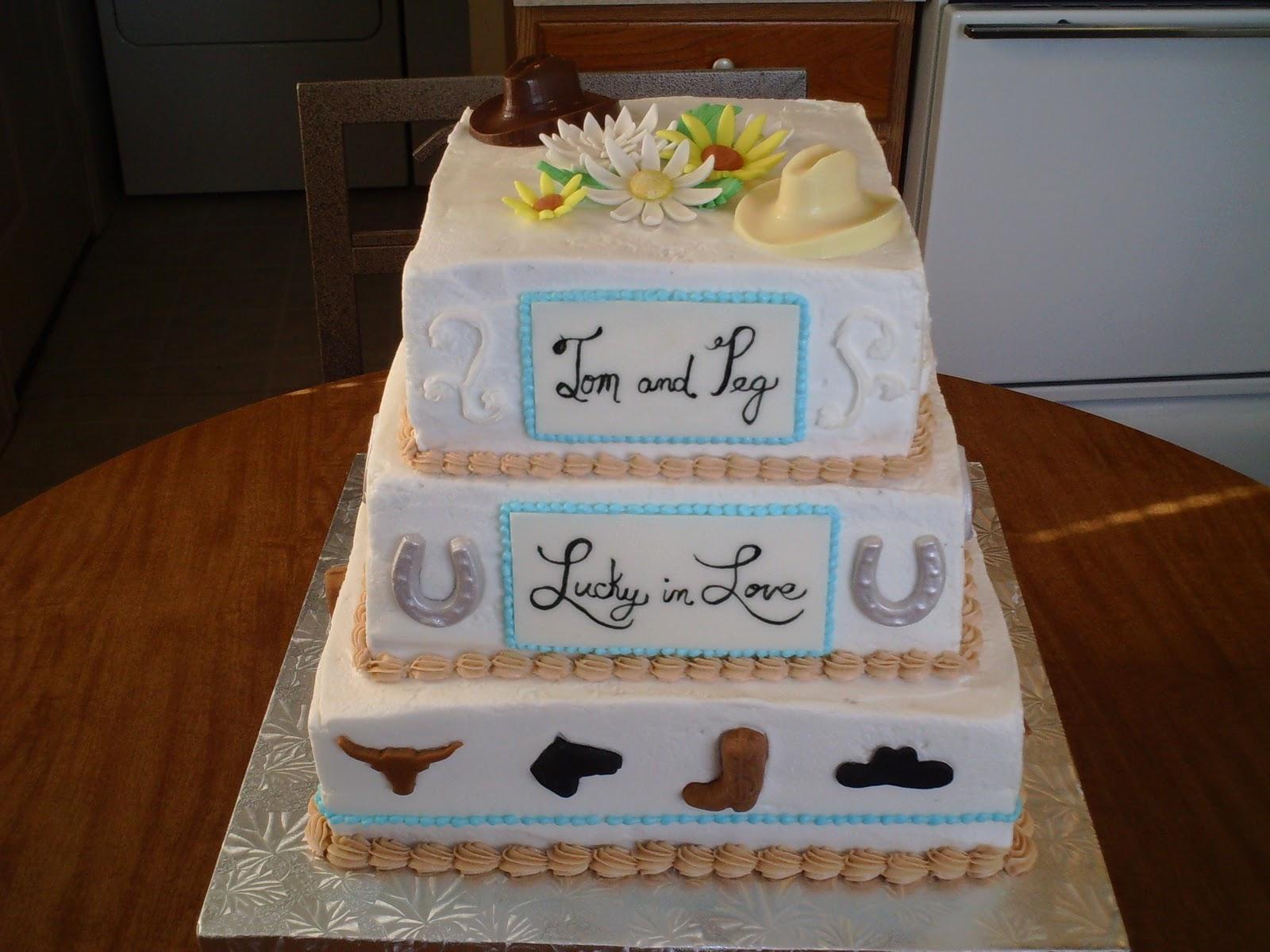 Art n Cake Western Theme Wedding Cake