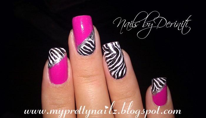 My Pretty Nailz Fun Zebra Print Konad Nail Art Stamping Design