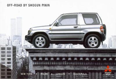 Postcard of the Mitsubishi Off-Road Shogun Pinin