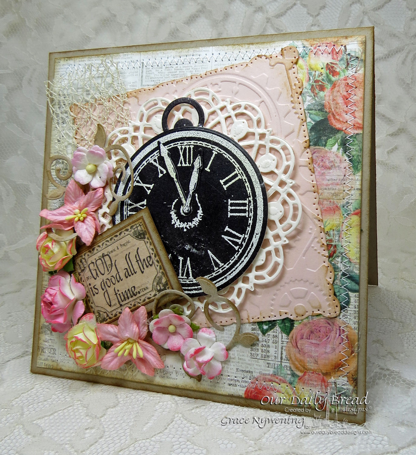 Stamps - Our Daily Bread Designs God's Timing, ODBD Custom Matting Circles Dies, ODBD Custom Doily Dies, ODBD Custom Fancy Foliage Dies, ODBD Chalkboard Paper Collection