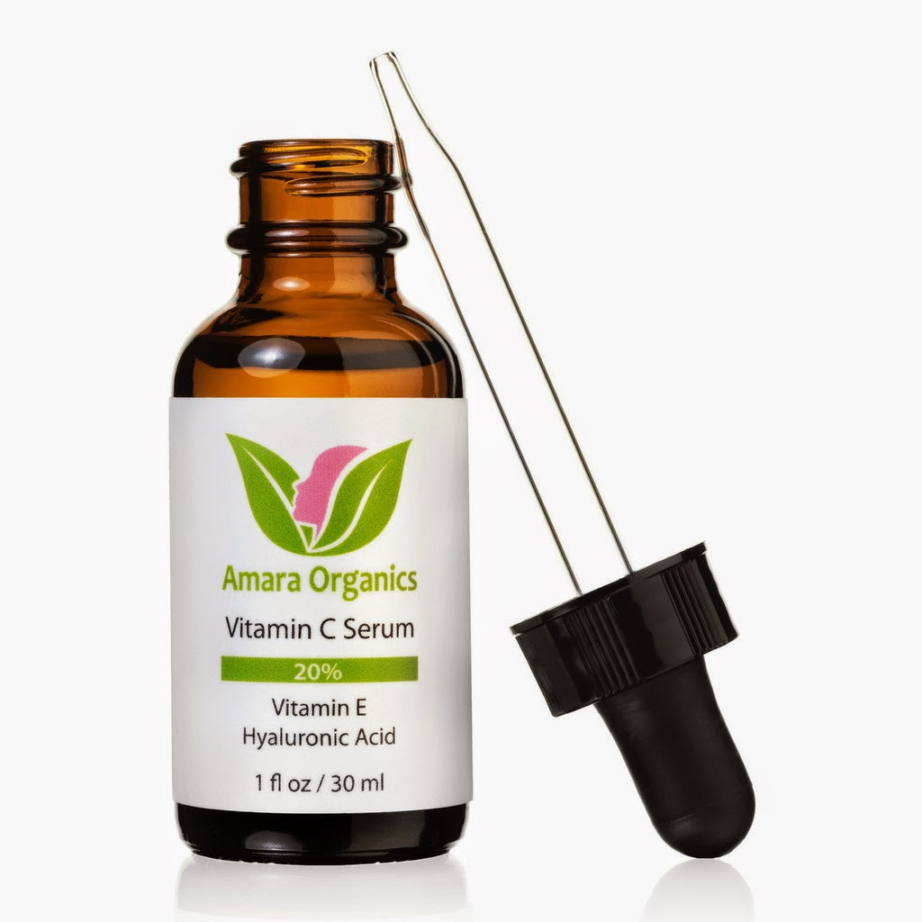 Vitamin C Serum for Face 20% With Vitamin E & Hyaluronic Acid  Amara Organics and barbies beauty bits