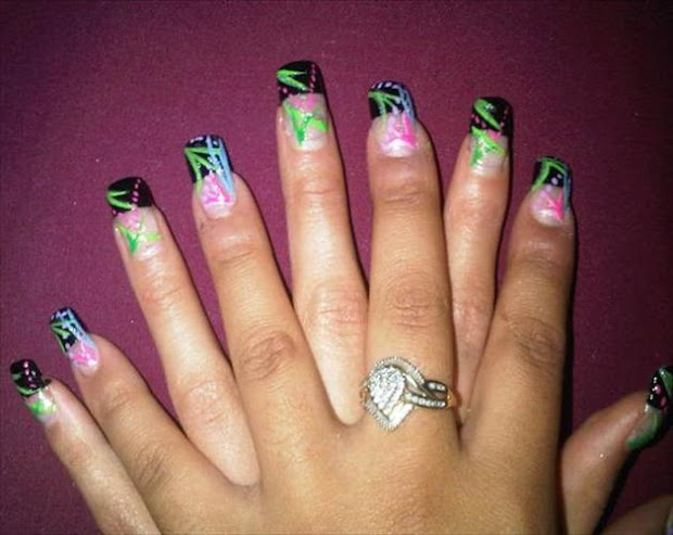 ghetto nails style fashion women