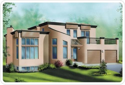 Modern home designs exterior modern desert homes for Desert home designs