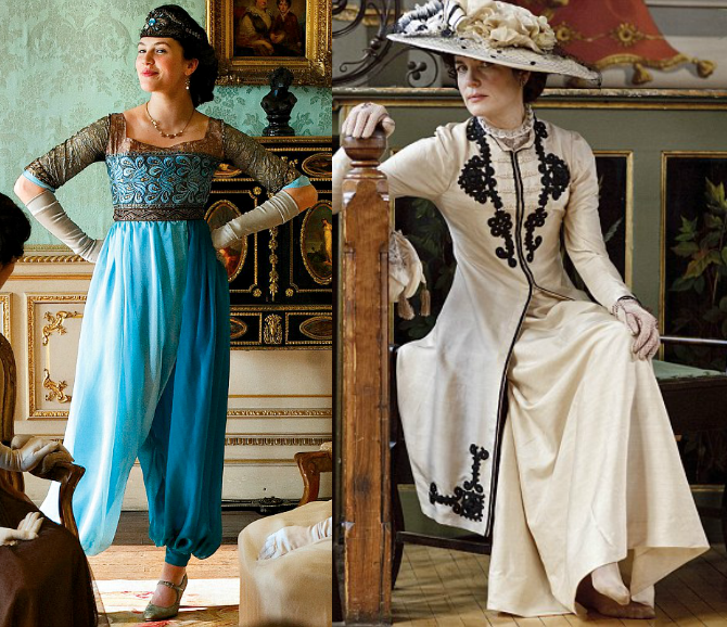 lady sybil e lady cora crawley di downton abbey
