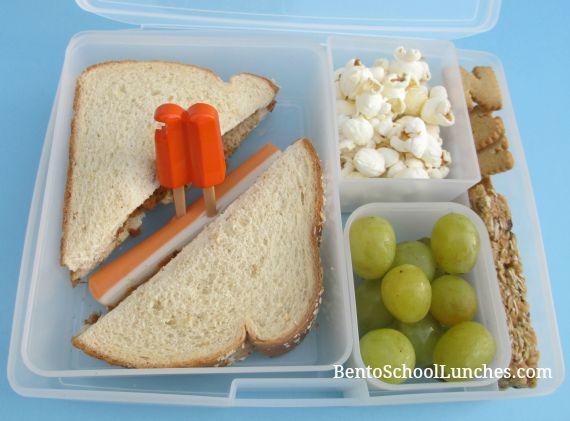 Simple sandwich school lunch