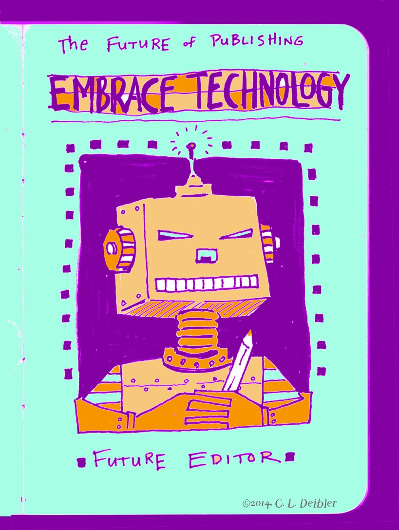 technology, editor, future, future editor, time marches on, client, sketchbook, digital, electronic, pencil, analog, editor, editorial, comment, commentary. future, futurescape