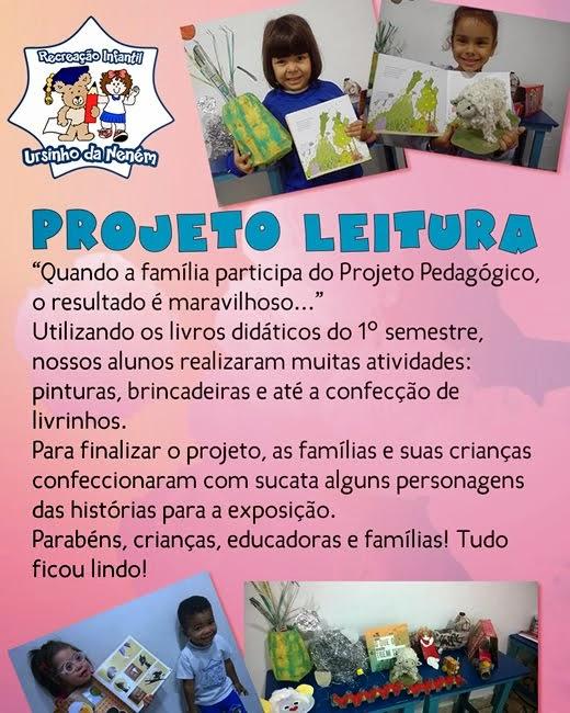Projeto leitura educação infantil