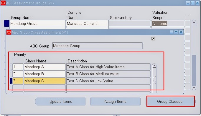 oracle abc assignment groups