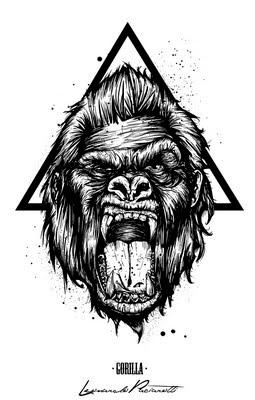 Leonardo paciarotti leoarts gorilla levulture t shirt design - King kong design ...