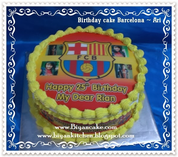 Kue tart barca football