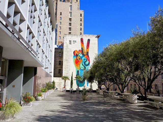 """Peace, Man"" New Street Art Mural By Australian Artist REKA in San Francisco, USA 2"