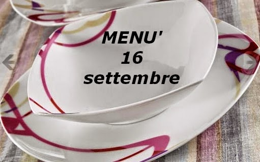 16 settembre menù