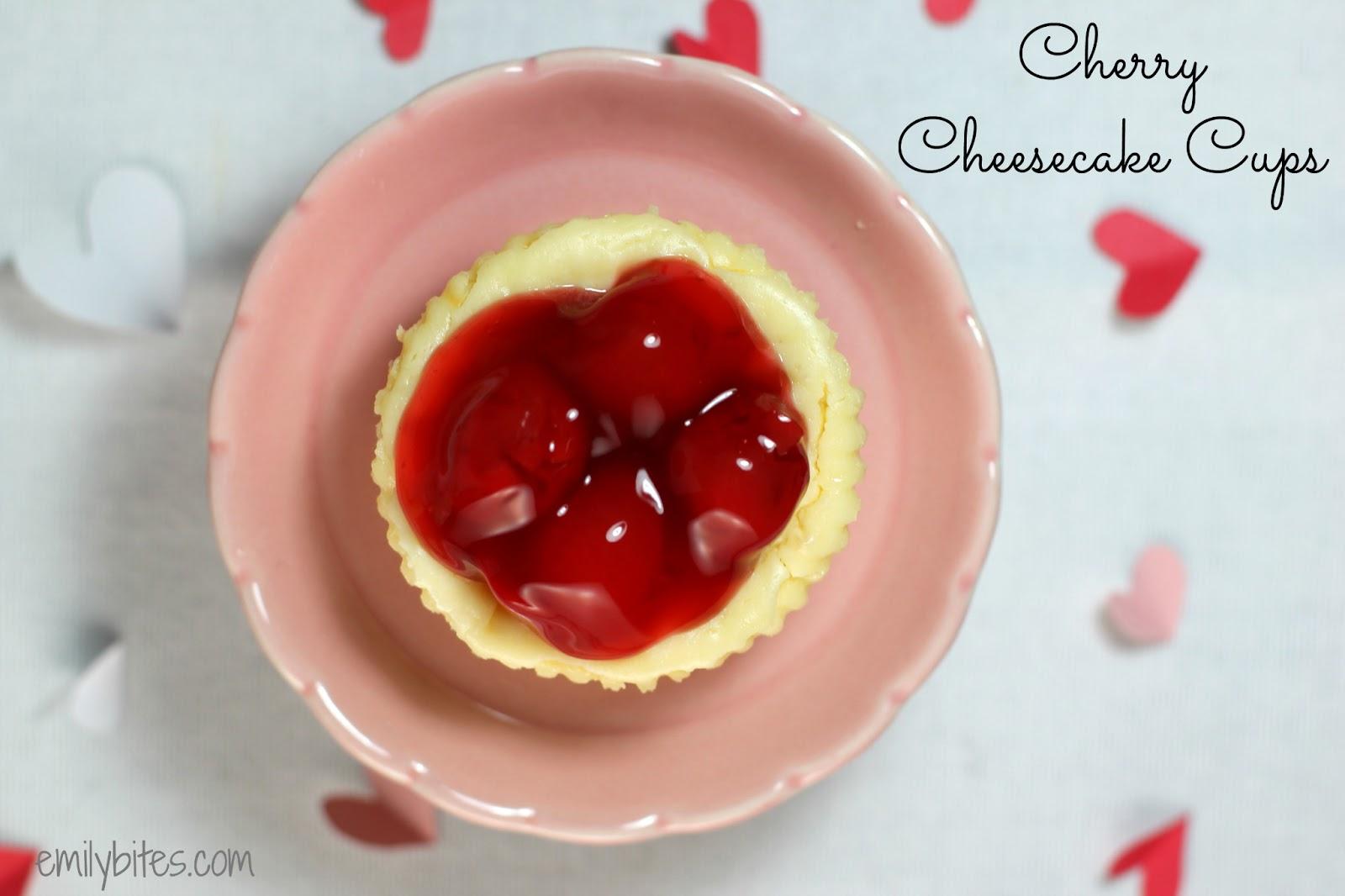 Cherry Cheesecake Cups - Emily Bites