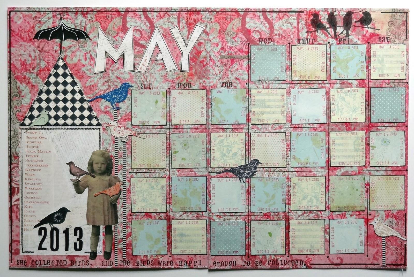 Calendar Art Journal : Freezeframe art calendar journal may