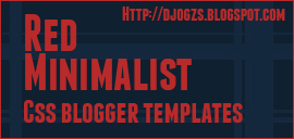 Red Minimalist Blogger Templates