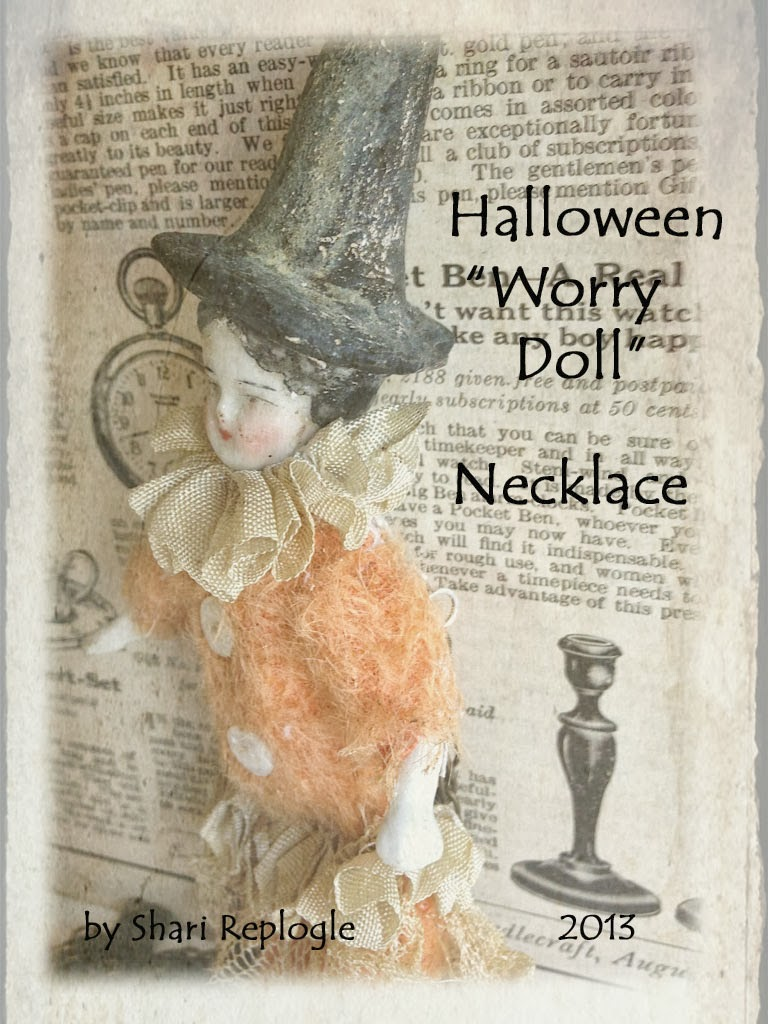 "ooak ""worry doll"" witch necklace goes live on my Etsy September 23, 8pm Est."