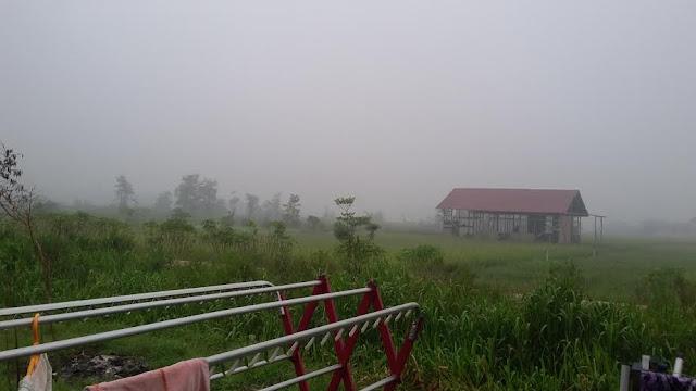 Ini foto kedua yang saya uji coba dari Samsung Galaxy Grand Prime ini. Foto kabut di pagi hari.  Foto Asep Haryono