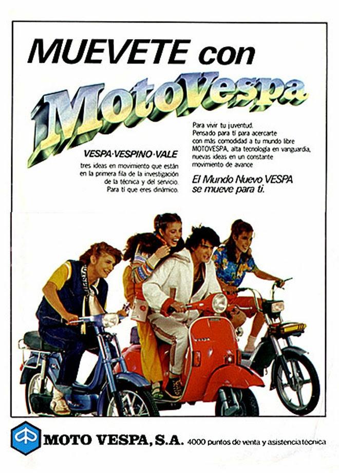 Vespa Publicidad de los años 80