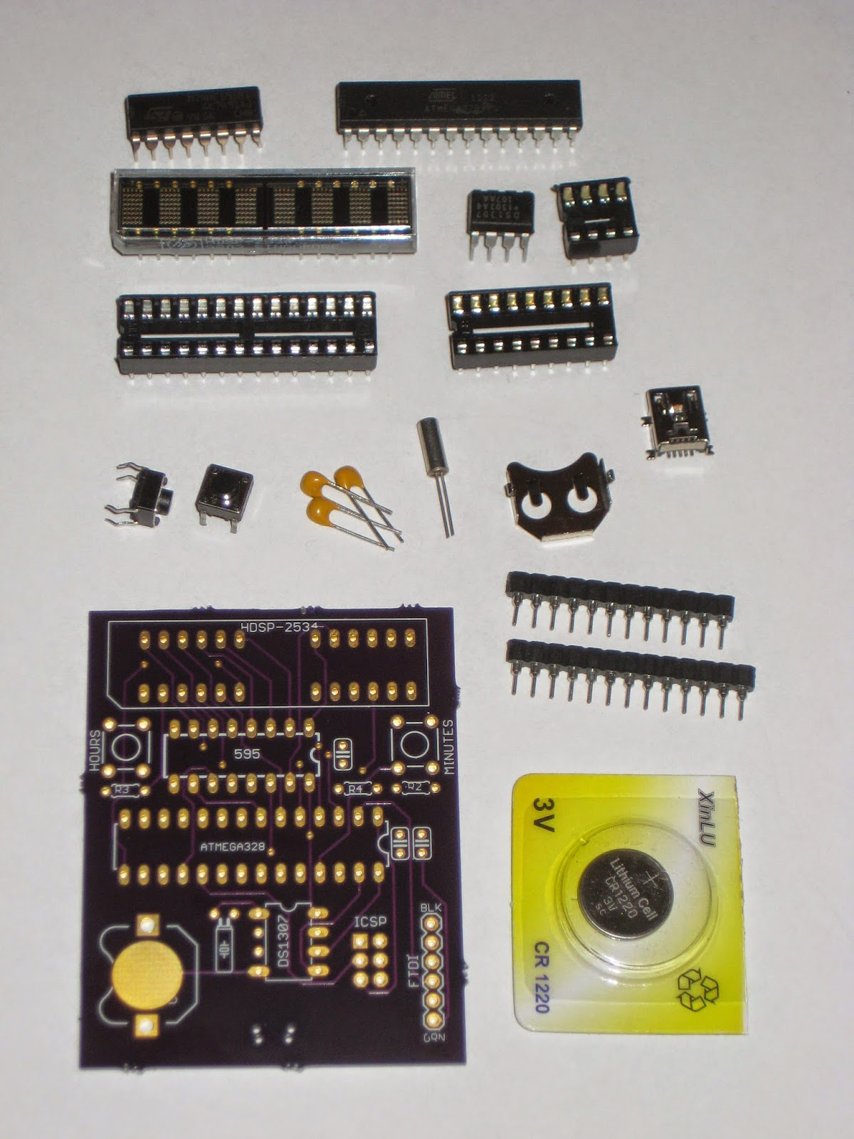 Wise Time With Arduino New Kit In Store Simple Clock Hdsp Electronic Circuit Board Diy The Includes Following Components Pcb Atmega328p Bootloader And Fuses For 8mhz Internal