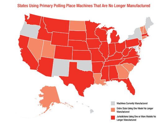 The National Voting Machine Crisis Is Upon Us -- And It's Affecting Elections