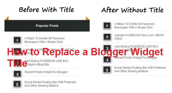 How to Replace a Blogger Widget Title : eAskme