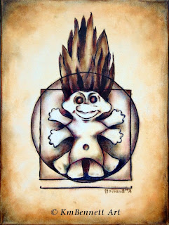 vitruvian troll painting 01 doll