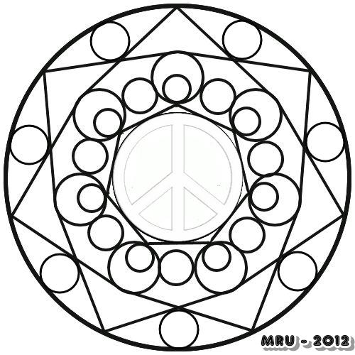 Mandalas - MRU - : MANDALAS con el SIMBOLO de la PAZ