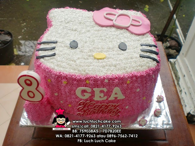Kue Tart Kepala Hello Kitty Pink