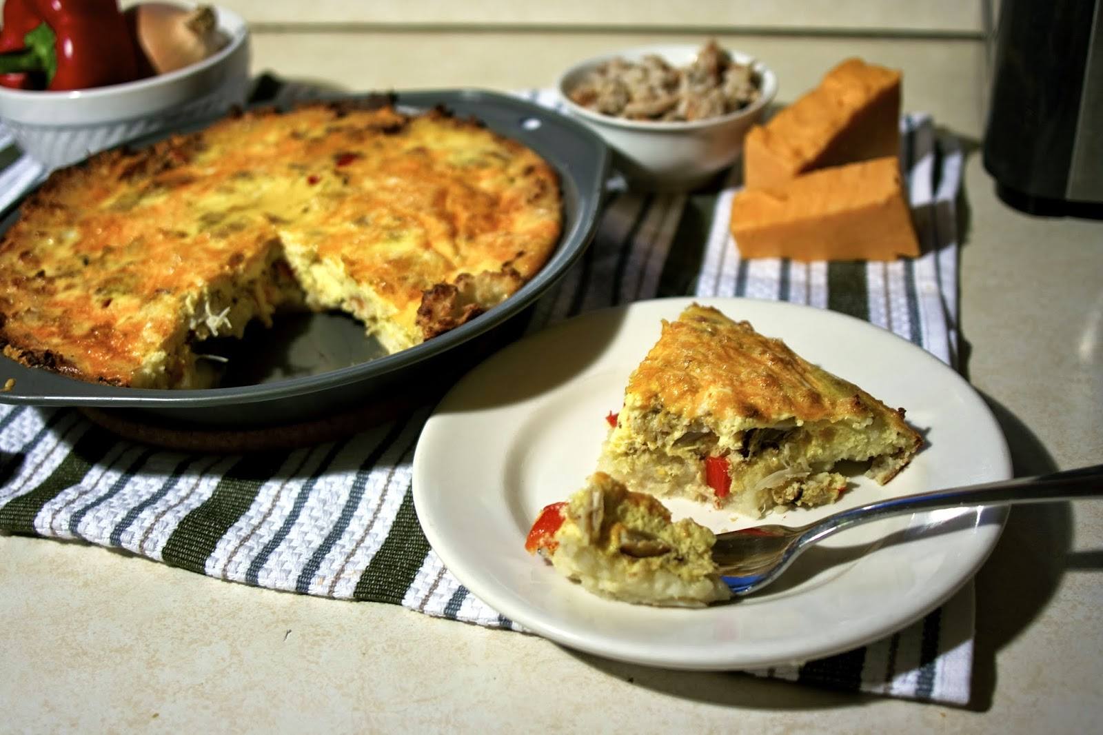 Crab Quiche with Potato Crust: simplelivingeating.com