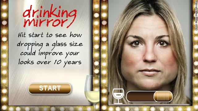 Drinking Mirror : Aplicación que muestra cómo envejeces por consumir alcohol