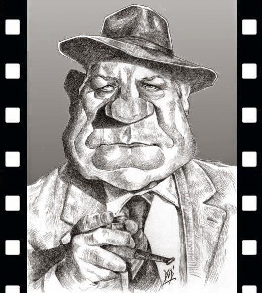 Les caricatures. Bod-bodard-caricatures-jean-gabin-maigret-1958-2014