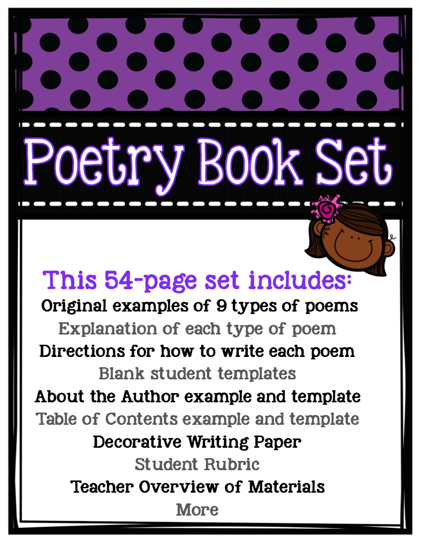 Fifth grade is fab poetry unit for elementary and middle for Poetry booklet template