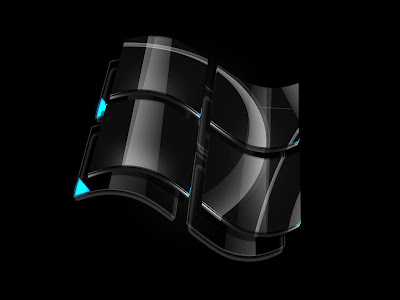 Black windows vista logo wallpapers