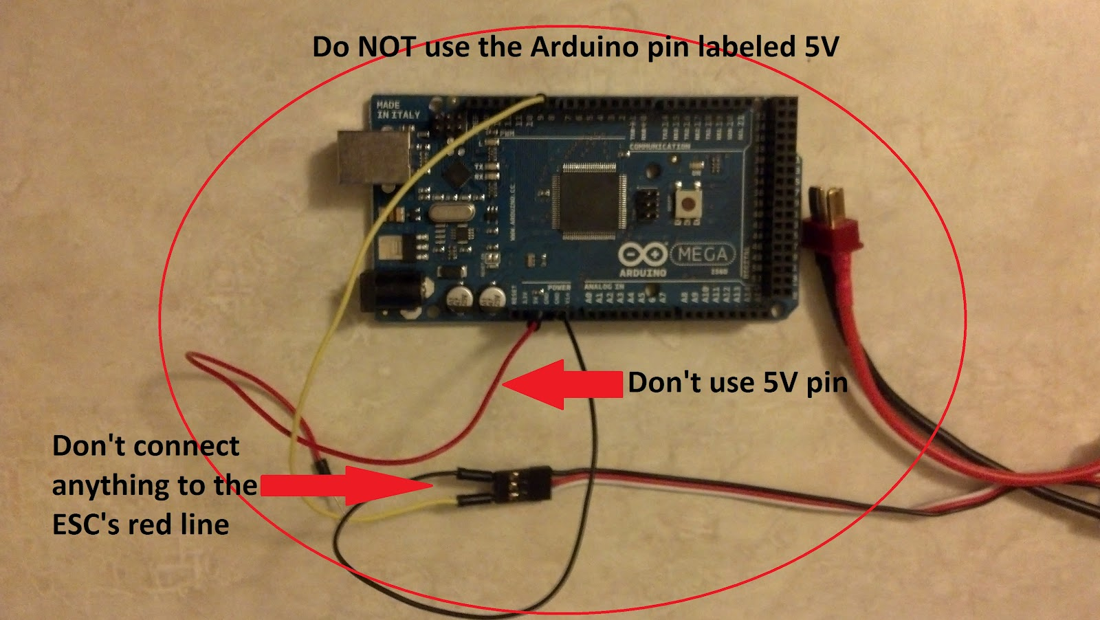 Arduino Control Esc Motor Tutorial Fun Projects Of Various Types Sainsmart Joystick Wiring Diagram Figure 23 Dont Do This
