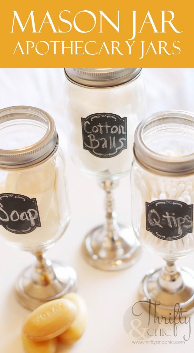 Mason Jar Apothecary Jars